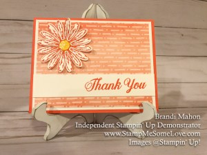 Delightful Daisy Designer Paper Series Thank you Card