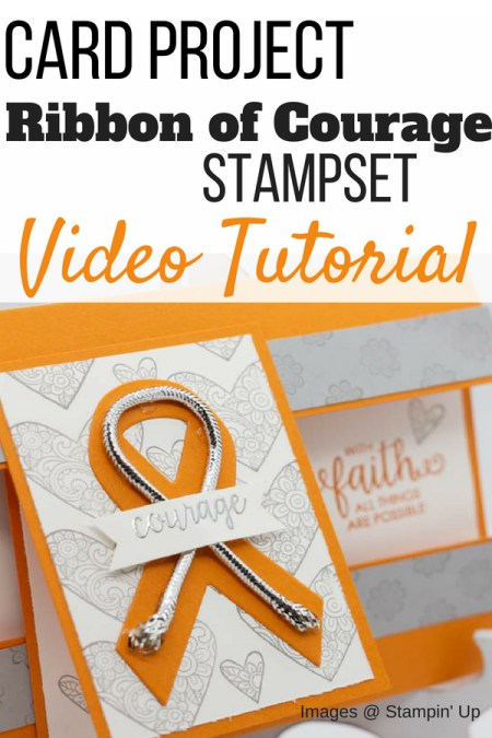 Card tutorial on how to create a card for a cancer patient using the Ribbon of Courage Stamp set from Stampin' Up! | ribbon of courage cancer card | cancer cards ideas | cancer cards ideas thinking of you | cancer cards ideas get well