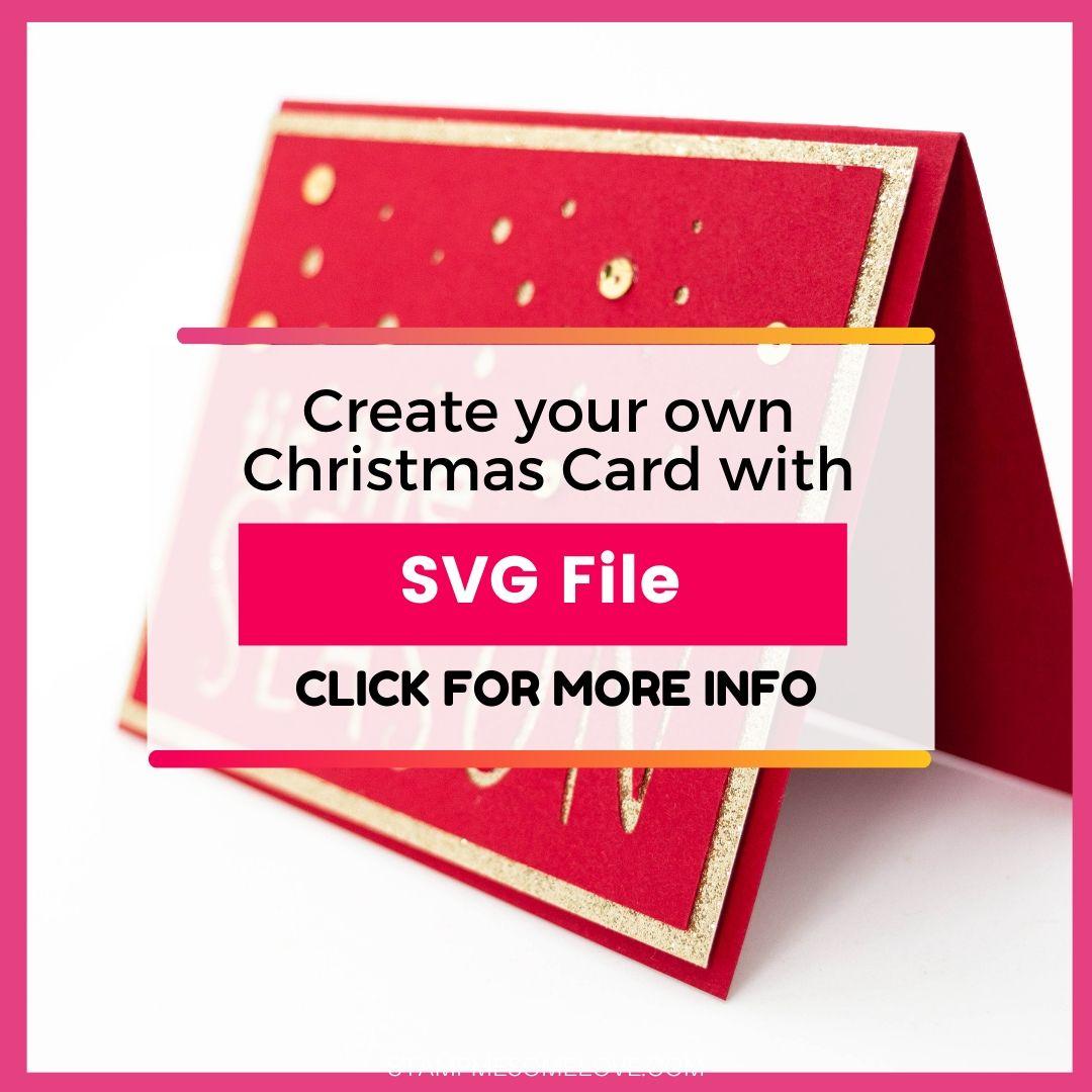 Tis The Season Svg File Simple Christmas Card Stamp Me Some Love