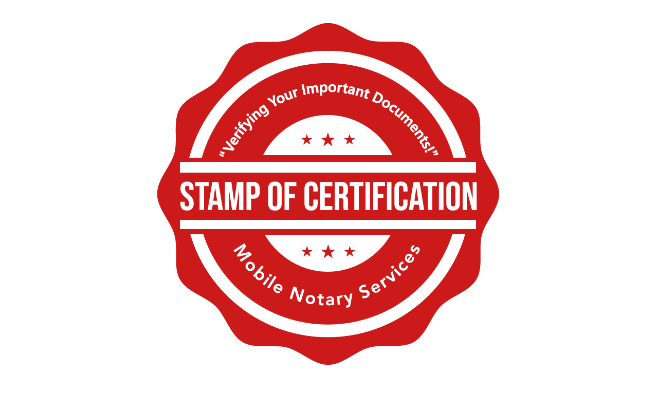 Electronic Notary Public – Stamp Of Certification Mobile