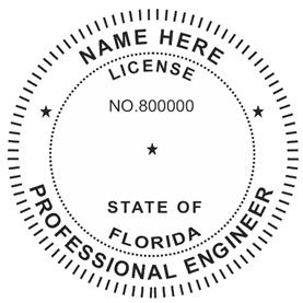 Florida Professional Engineer Stamp Florida Professional