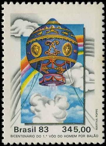 Sello emitido por Brasil, en 1983.