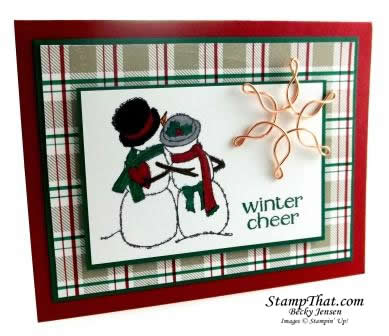Spirited Snowman From Stampin Up Handmade Card