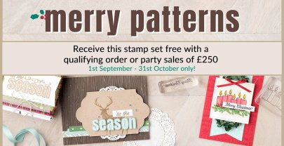 Exclusive new stamp set Merry Patterns