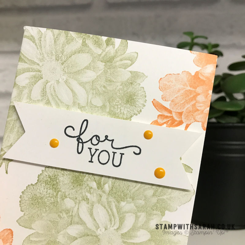 Quick And Simple Card Using Heartfelt Blooms Stamp Set From Stampin Up Shop For Stampin Up