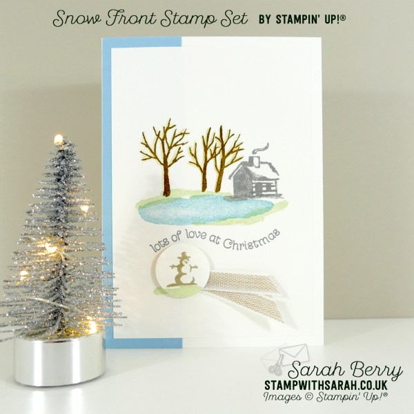 Snow Front stamp set meets Itty Bitty Christmas stamp set from Stampin' Up!