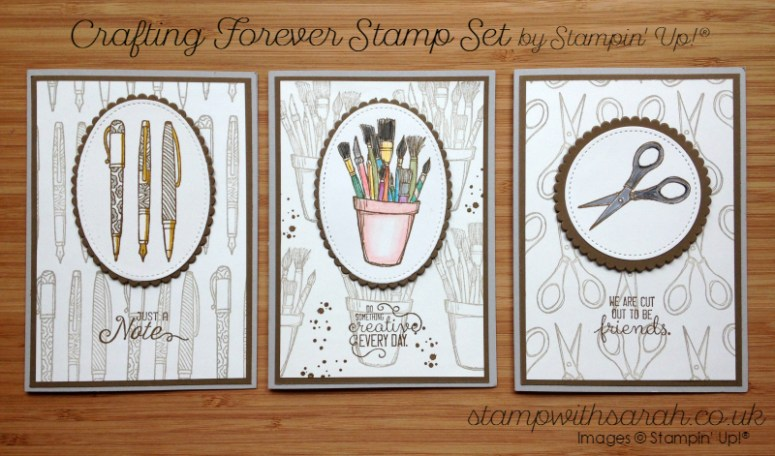 Brand new Crafting Forever stamp set coming on 1st June 2017, Sarah Berry Stampin' Up! UK Demonstrator