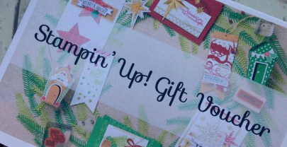 Christmas Wreath Stampin' Up! Gift Vouchers now available!