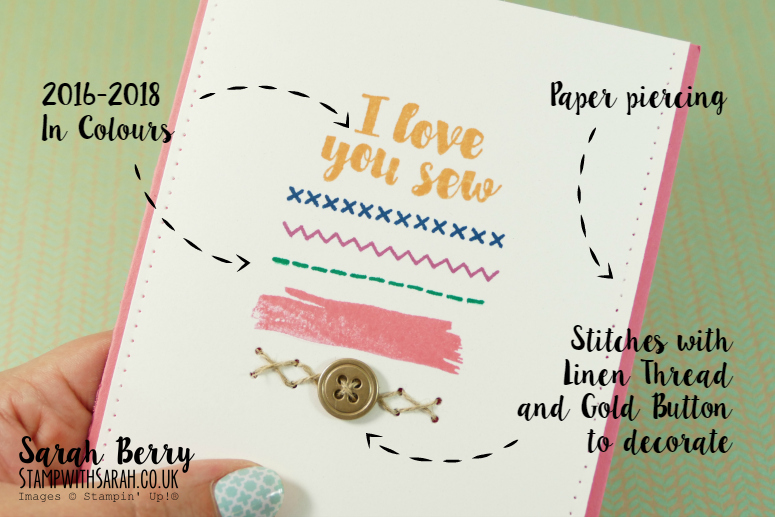 Close up of Love You Sew card #occasionsfarewell2016