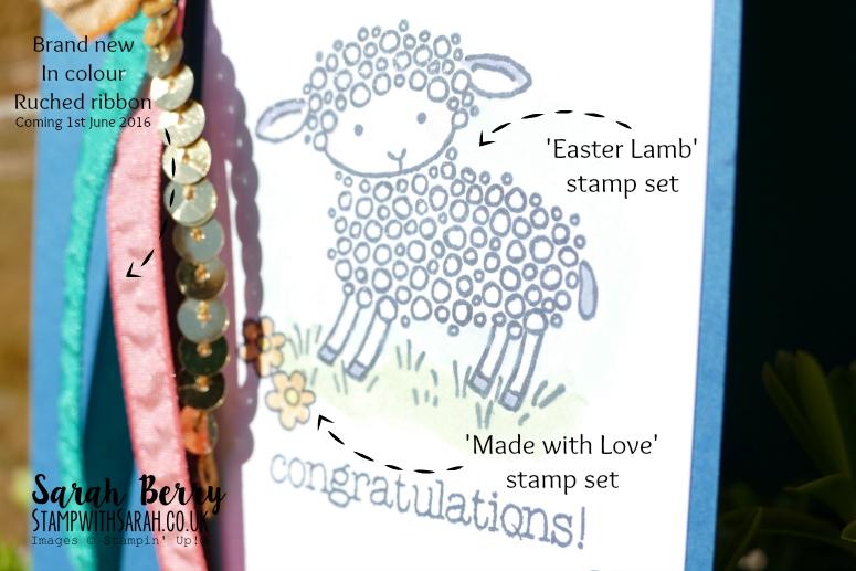 Easter Lamb close up, retiring soon! #stampinup