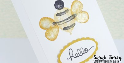 A Bumble Bee from Balloon Builder stamp set by Stampin' Up!