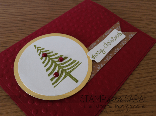 Festival of Trees Photopolymer Stamp Set Close Up Cherry Cobbler Stampin Up UK