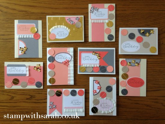 Stamp with Sarah Berry Stampin Up UK Just Dotty Takeaway Class