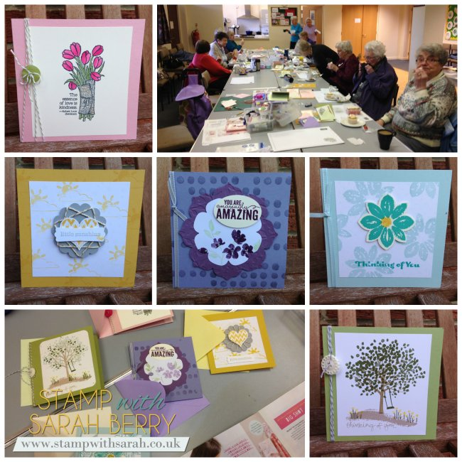 Stamp with Sarah Berry Stampin Up UK Maghull Craft Group Day