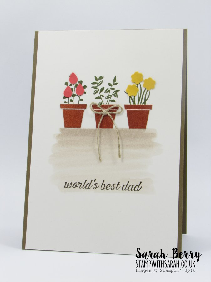 'World's Best Dad' card featuring Going Global and Gift from the Garden for Mediterranean Achievers Blog Hop #stampinup #stampwithsarah #gvachieversbloghop