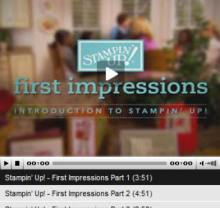 Stampin Up Demonstrator Video Tutorial about Stampin Up