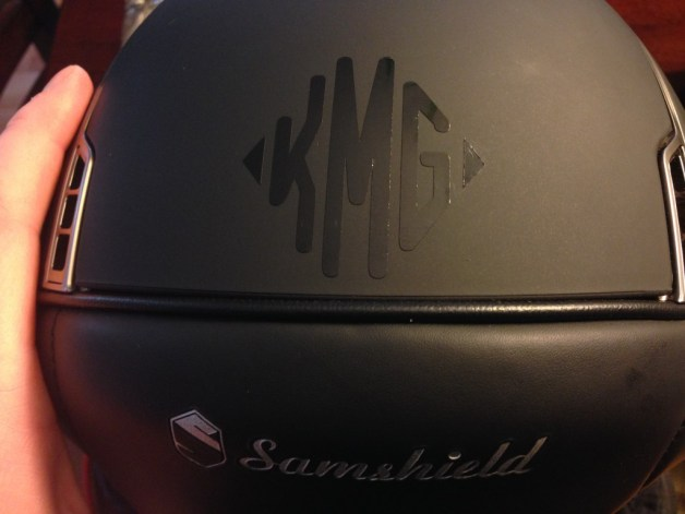 Samshield looking show ready with a black gloss monogram from Relatively Stable!