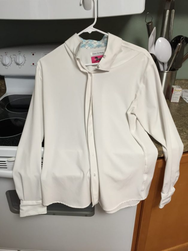 RJ Classics Classic Cool Stretch Show shirt, snap collar, night light stretchy material, Looks like it's never been worn - no stains at all. Retails for $78 on Smartpak. $40 OBO