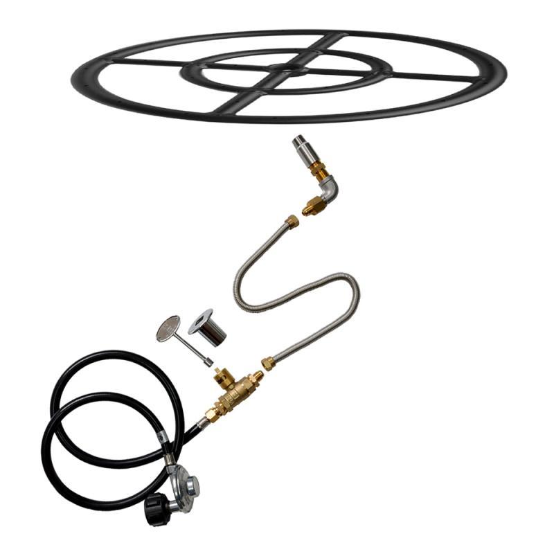 Stanbroil LP Propane Gas Fire Pit Burner Ring Installation