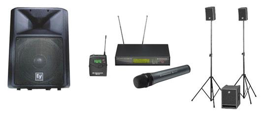 Matériel de sonorisation adapté à tous stands
