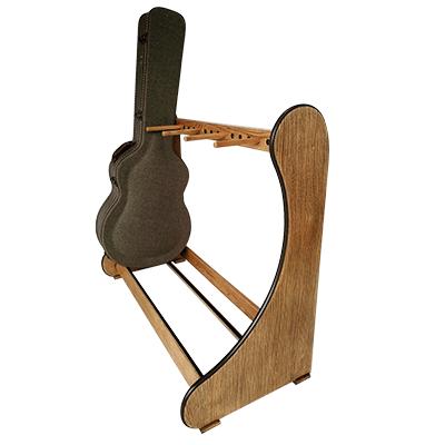weathered oak classic guitar case rack