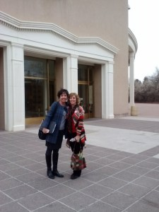 """Stand4KidsNM co-founders Shannon Konefal and Kathy Korte at the Capitol after a successful day supporting in committee an education funding bill that puts more money """"above the line"""" directly to districts."""