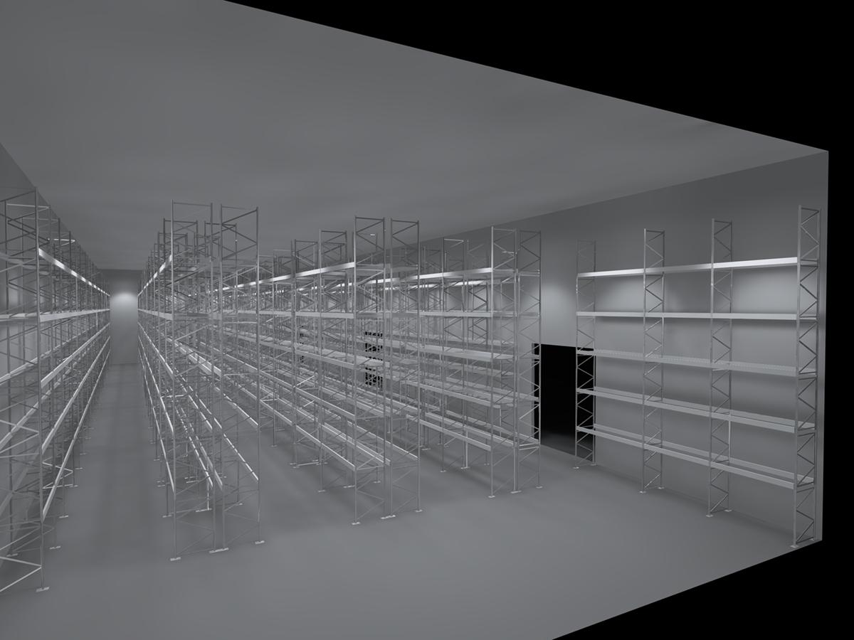 Eclairage entrepôt