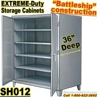 Extreme Duty Steel 36 inch deep Storage Cabinets / SH012