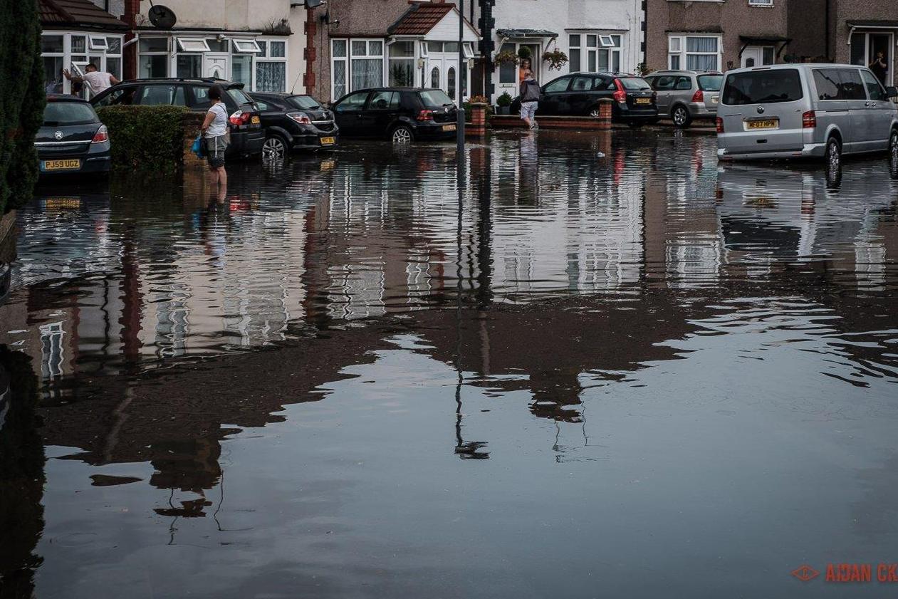 London weather Torrential thunderstorms sparks transport