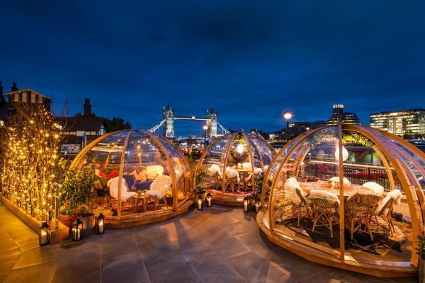 London' Winter Terraces London Evening Standard