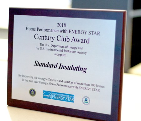 standard insulating's 2018 century reward from Home Performance with Energy Star