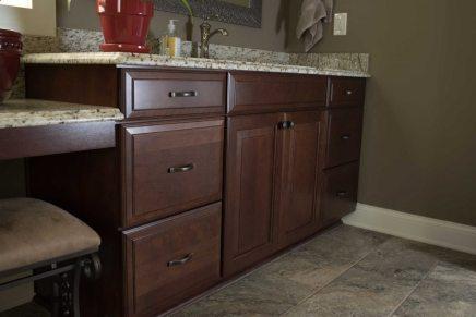 Dark Vanity Bath Remodel Knoxville