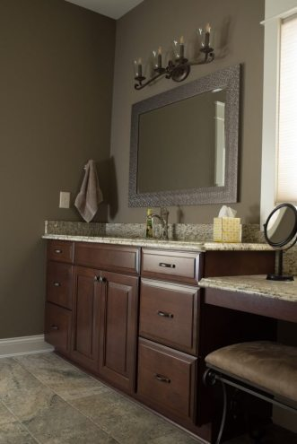Bath Remodel Knoxville   Custom Cherry Cabinets