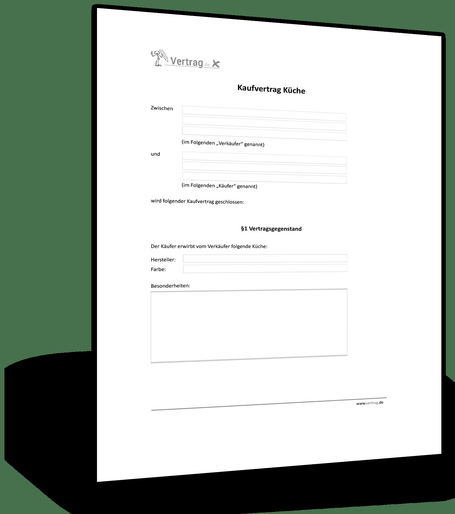 Kaufvertrag Gebrauchte Kche