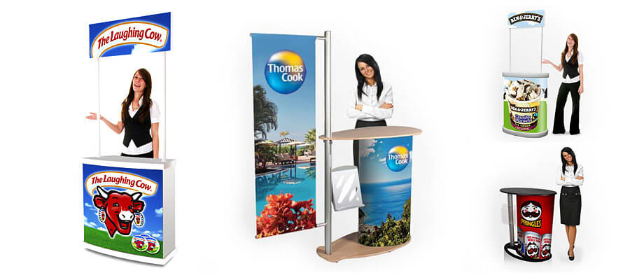 promotional counters presentation exhibition