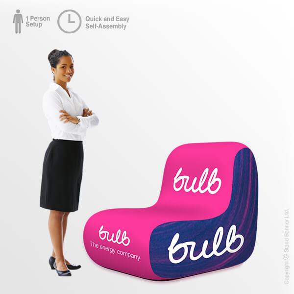 inflatable chairs for adults back pillow chair branded furniture promotional event branding