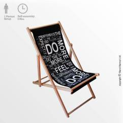 Deck Chair Images Blue With Ottoman Custom Printed Branded Event Furniture