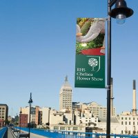 Lamp Post Flag Banners, Promotional Advertising System