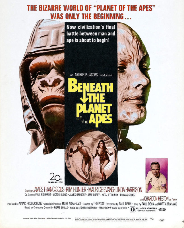 Image result for beneath the planet of the apes