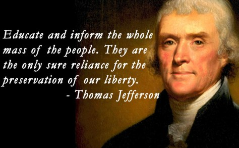 "QUOTE SOURCE: ""Founders Online, National Archive"": From Thomas Jefferson to Uriah Forrest, with Enclosure, 31 December 1787: http://founders.archives.gov/documents/Jefferson/01-12-02-0490 GRAPHIC SOURCE: http://www.relatably.com/q/quotes-by-thomas-jefferson-on-education-and-democracy"
