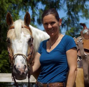 Carla Webb with horse Babs