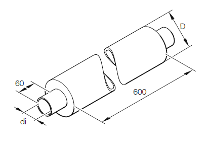 Eberspächer/ Webasto Noise filter hose. Ø 75 mm. Length 500 mm