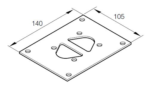 Eberspächer Mounting-cover plate for Airtronic D 2, D 3