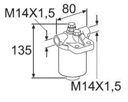 Webasto Fuel tank. 24 Liter. Plastic