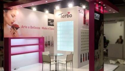 lestimento stand fieristici Milano Fiera Esthetiworld Stand Tertio