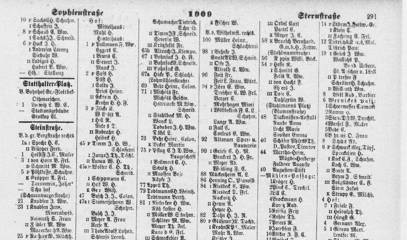 Altonaer Adressbuch 1909