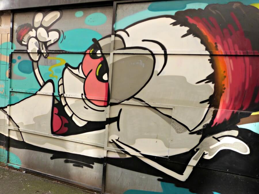 Sla de street art in de hofjes en steegjes van St. Pauli niet over