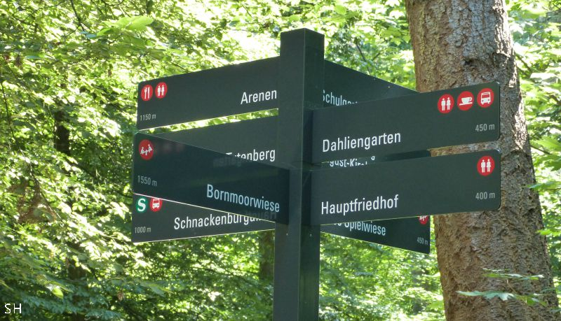 Bewegwijzering Altonaer Volkspark Standort Hamburg