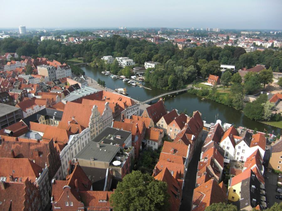 Dagtrip Lübeck: uitzicht over de stad