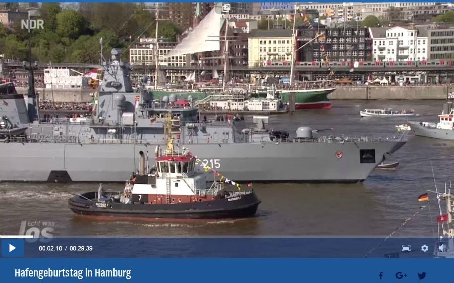 Hafengeburtstag - Einlaufparade bij NDR